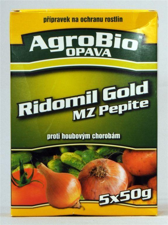 RIDOMIL GOLD MZ PEPITE 5×50g AgroBio Opava, s.r.o.