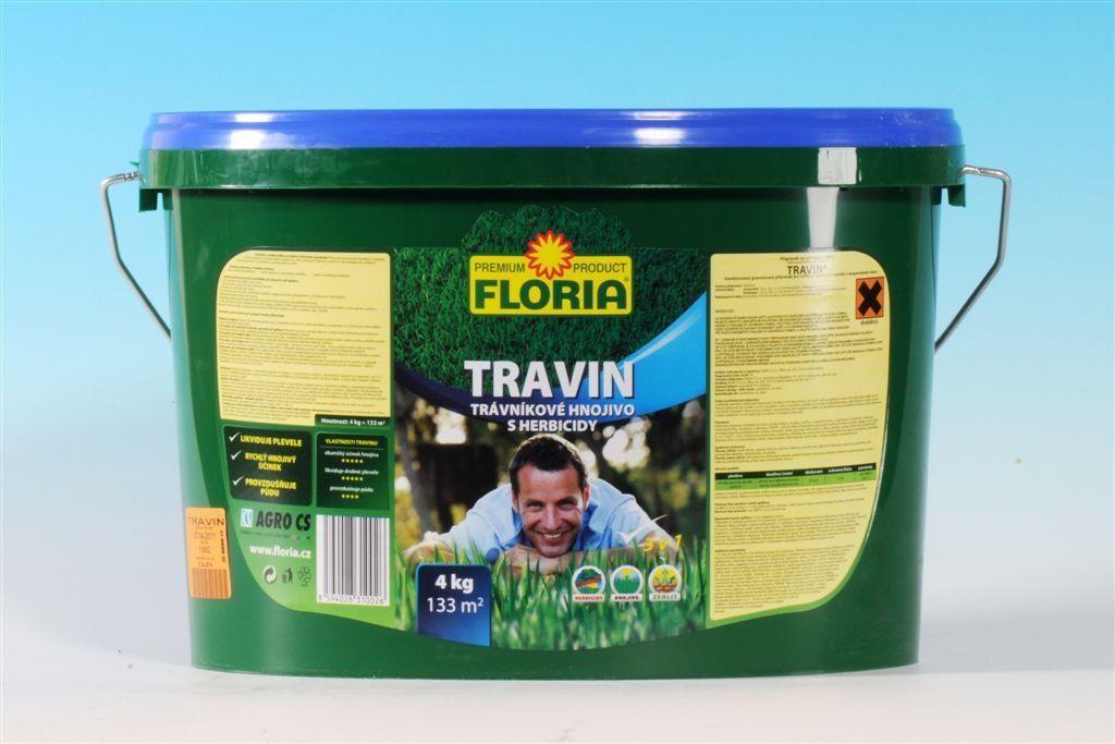 Trávníkové hnojivo s herbicidy TRAVIN 4 kg