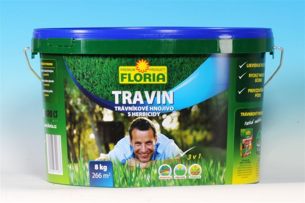 Trávníkové hnojivo s herbicidy TRAVIN 8 kg