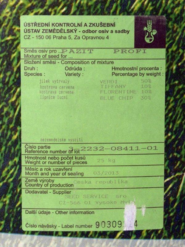 Travní směs PAŽIT (zátěžová) 25kg