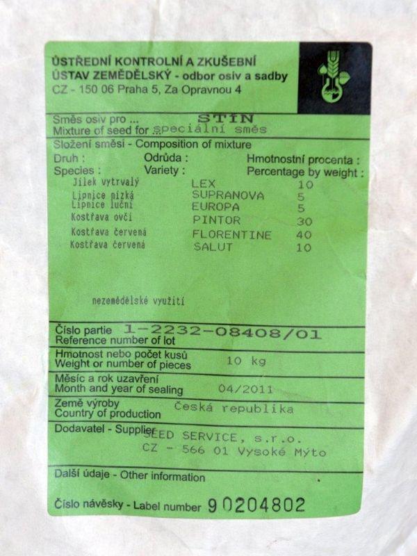 Travní směs STÍN 3kg