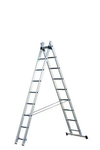 Štaflový žebřík hobby 2x7 příček
