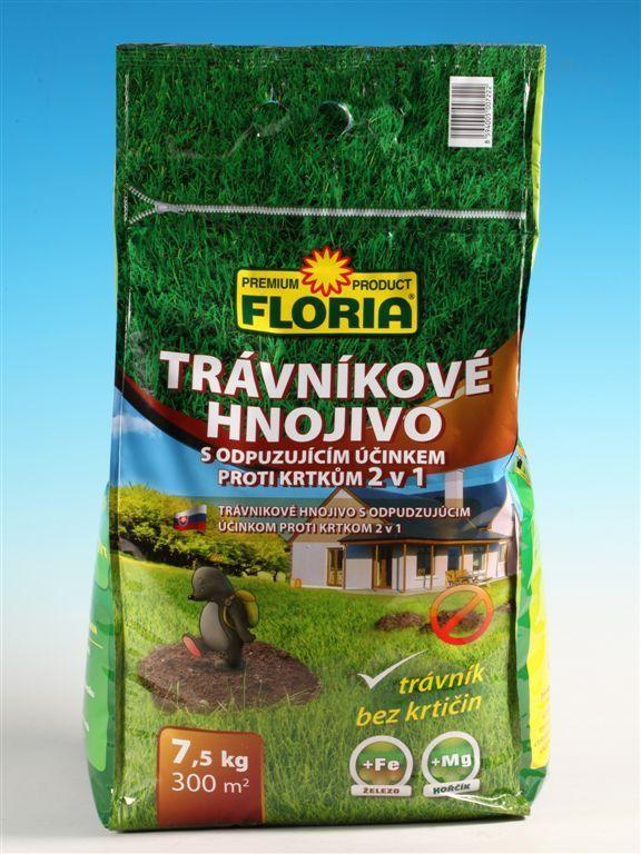 FLORIA Trávníkové hnojivo proti krtkům 7,5kg