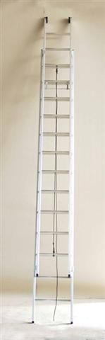 Výsuvný žebřík s lanem profi 2x17 příček
