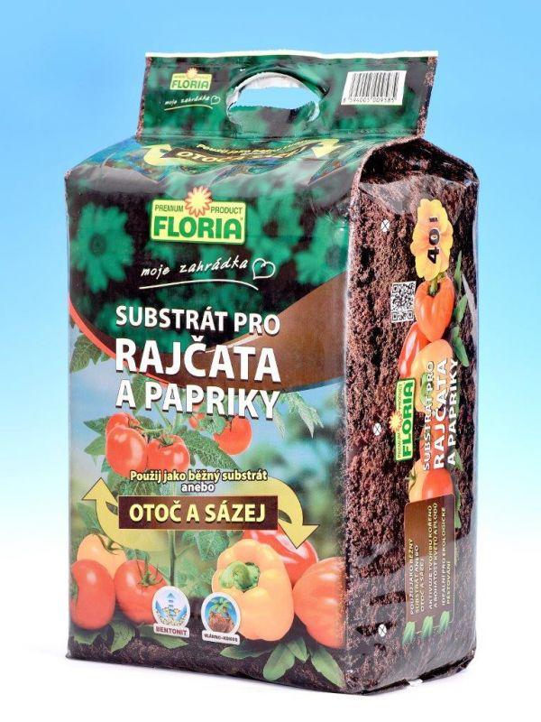 Floria Substrát pro rajčata a papriky 40l