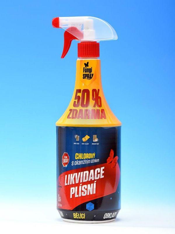 FungiSPRAY chlorový bělící 0,75l spray (0,5l AKCE + 50%)