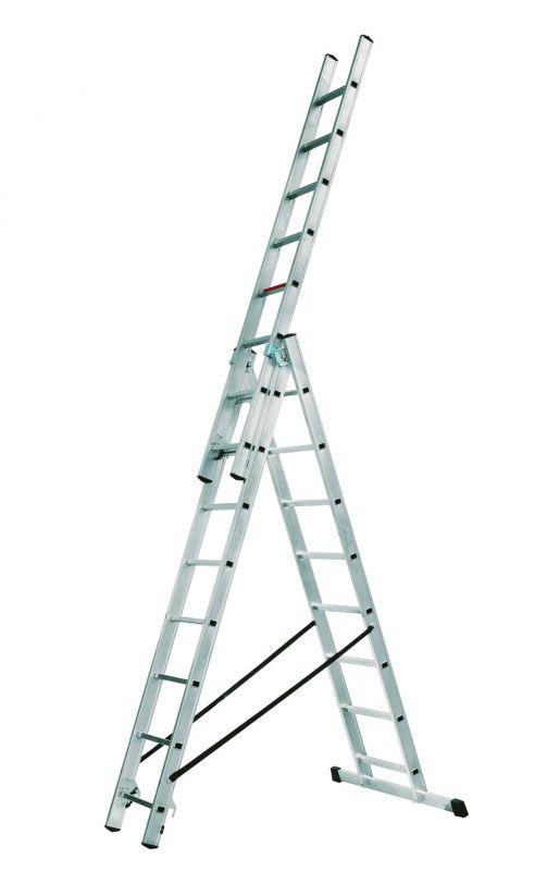 Hliníkový žebřík Alpos profi 3x8 příček
