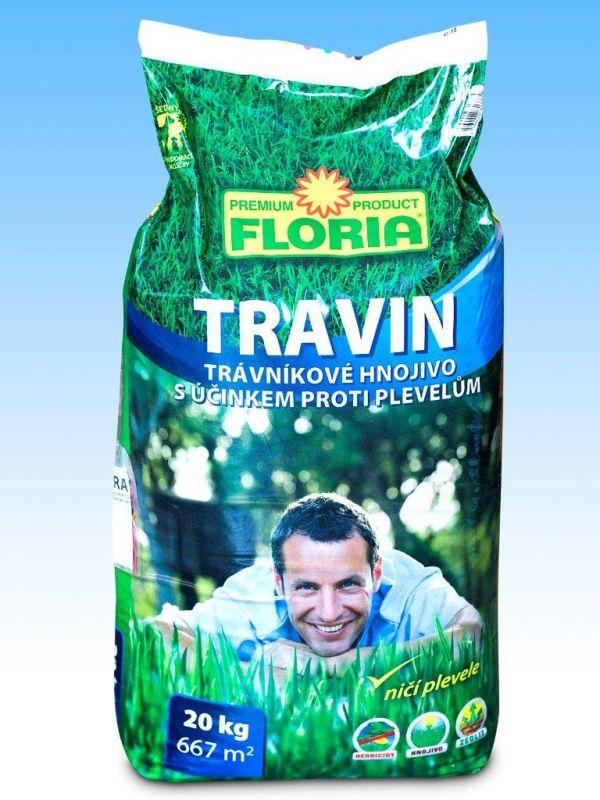 Trávníkové hnojivo s herbicidy TRAVIN 20kg