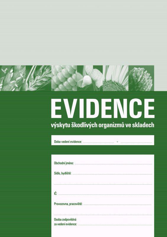 Evidence výskytu škodlivých organizmů ve skladech - 1 balení (3 sešity)
