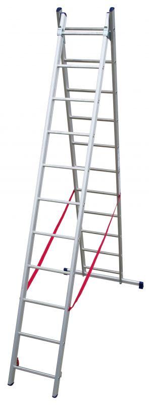 Štaflový žebřík hobby 2x11 příček