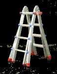 Teleskopický žebřík profi 4x5 příček