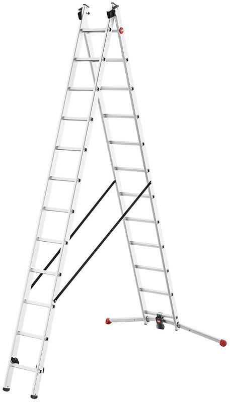 Výsuvný hliníkový štaflový žebřík 2x9 příček