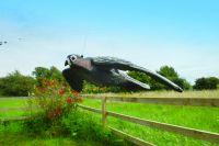 Létající sokol s pohyblivými křídly